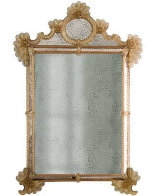 Murano Glass Mirrors – Venetian Glass Mirrors From Murano Island Pertaining To Gold Venetian Mirrors (#9 of 20)
