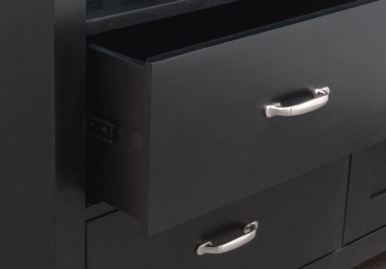 Nantucket Sideboard – Black And Cherry | Value City Furniture Intended For Black Sideboard (View 14 of 20)