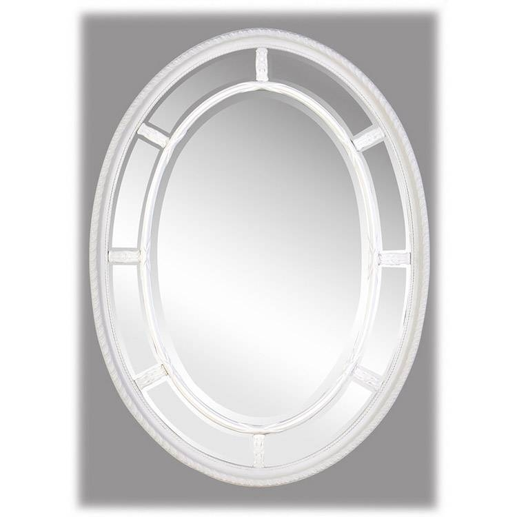 Naomi Cream / Antique White Oval Mirror 110 X 80 Cm Naomi White Intended For Antique White Oval Mirrors (View 4 of 20)