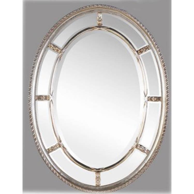 Naomi Silver Oval Mirror 110 X 80Cm Naomi Silver Oval Mirror For Silver Oval Mirrors (#13 of 20)