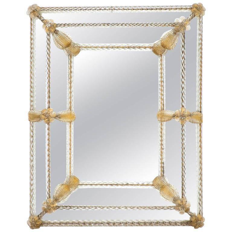 "Napoleon Iii Period ""Avventurina"" Gold Venetian Mirror – Jean Marc Regarding Gold Venetian Mirrors (#10 of 20)"