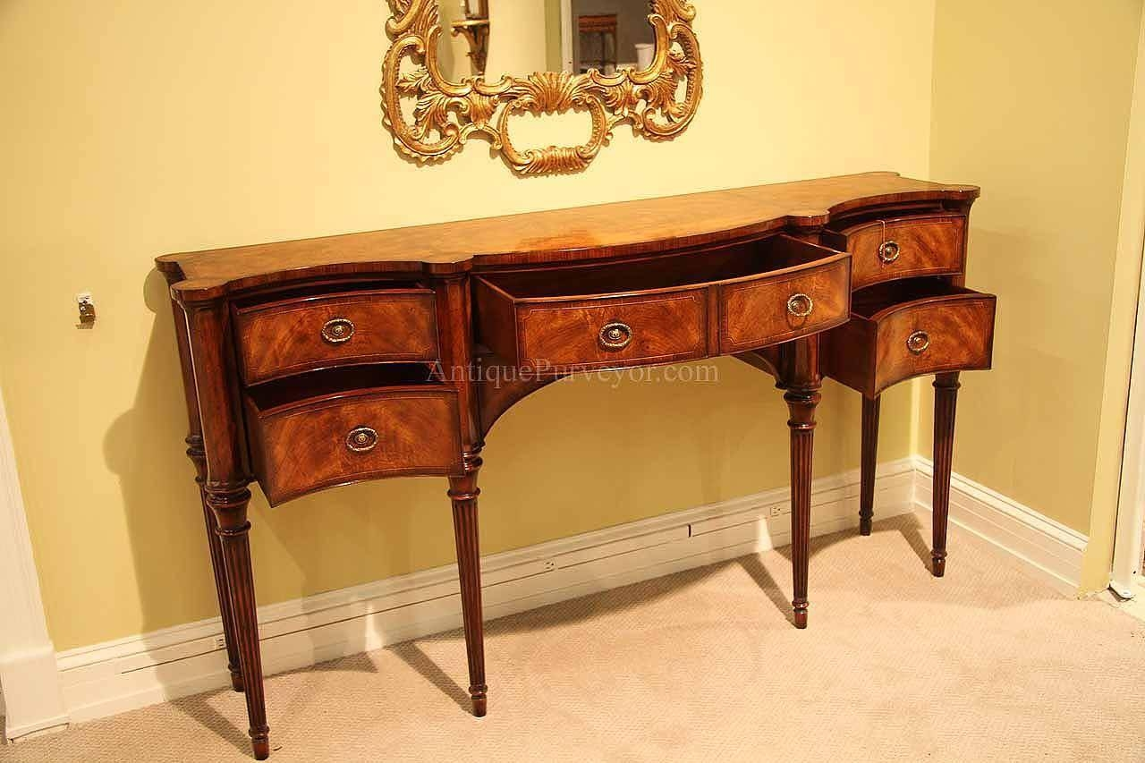 Narrow Mahogany Sideboard For Dining Room Great Console Table Regarding Narrow Sideboard (#7 of 20)