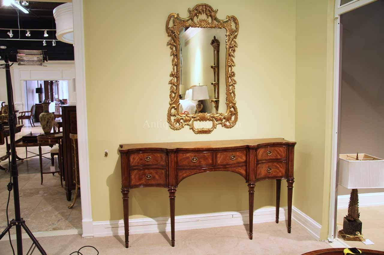 Narrow Mahogany Sideboard For Dining Room Great Console Table Throughout Narrow Sideboards (#8 of 20)