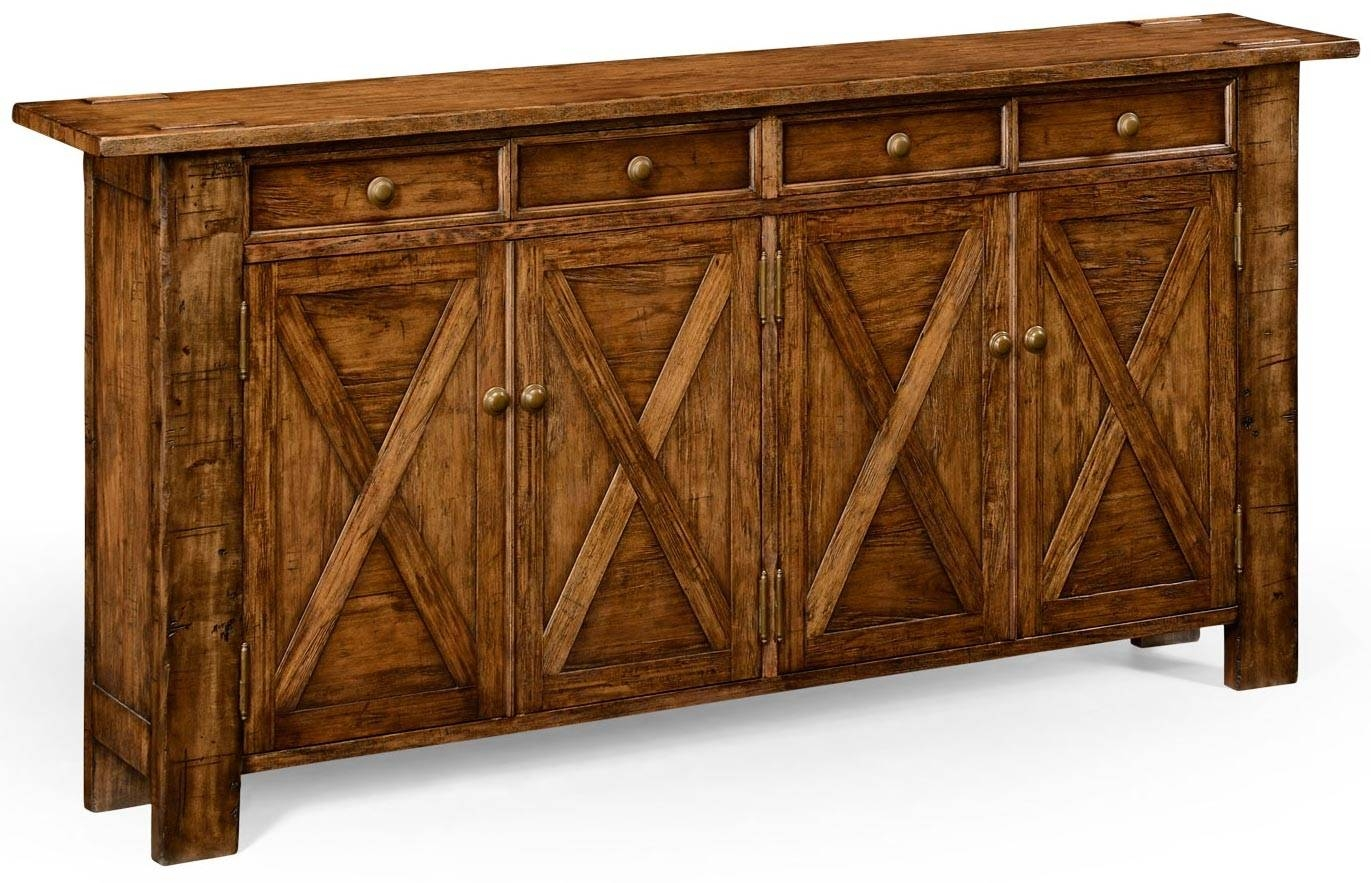 Narrow Sideboard Or Buffet P Within Narrow Sideboard Cabinet (#5 of 20)