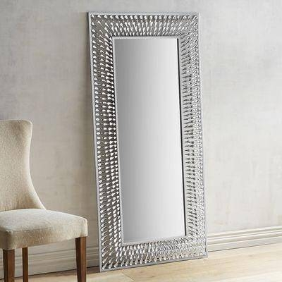 Natalie Floor Mirror In Modern Silver Mirrors (#17 of 20)