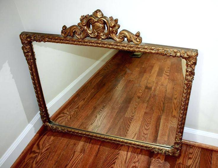 Natural Wood Mirrordecorative Wall Mirrors Large Wooden Framed In Vintage Gold Mirrors (#22 of 30)