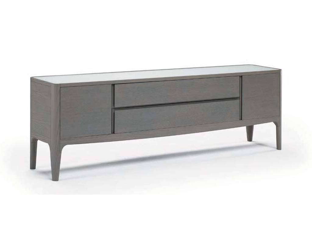Natuzzi Italia – Fortuna Grey Sideboard | Modern Italian Furniture Throughout Grey Sideboard (#16 of 20)