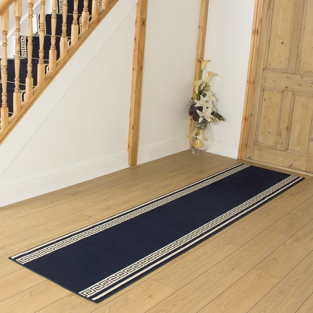 Navy Blue Rug Runner Roselawnlutheran With Regard To Blue Rug Runners For Hallways (#17 of 20)
