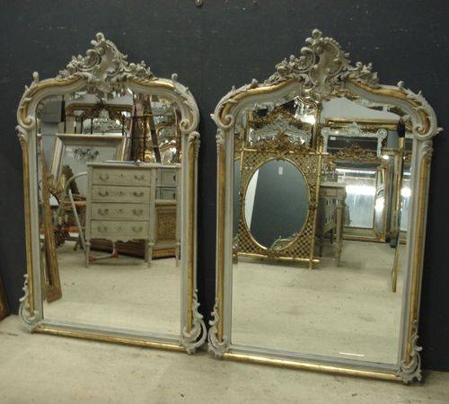 Near Pair Of Antique French Mirrors | 259715 | Sellingantiques.co (View 6 of 20)