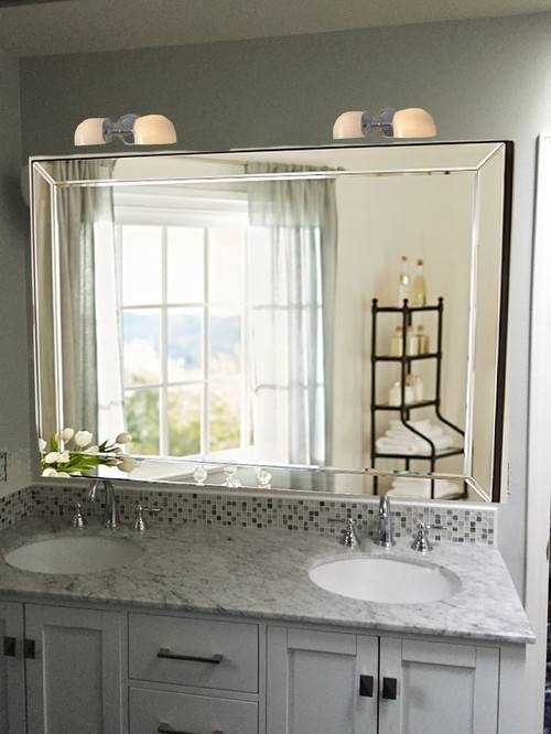 Need Bathroom Sink/mirror/sconce Advice Asap!! With Regard To Double Bevelled Mirrors (View 24 of 30)