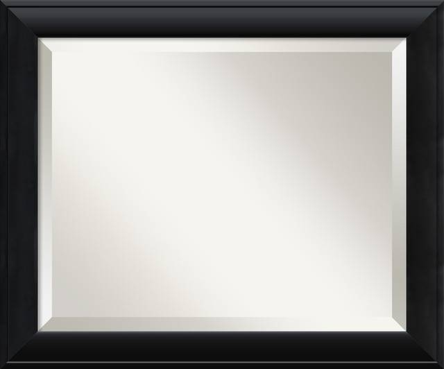 Nero Black Wall Mirror – Traditional – Wall Mirrors  Amanti Art With Long Black Wall Mirrors (#22 of 30)