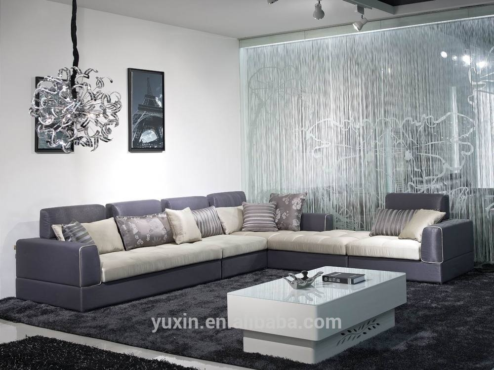New Design Corner Fabric Sofal Shape Sectional Home Sofa Set With L Shaped Fabric Sofas (View 8 of 15)