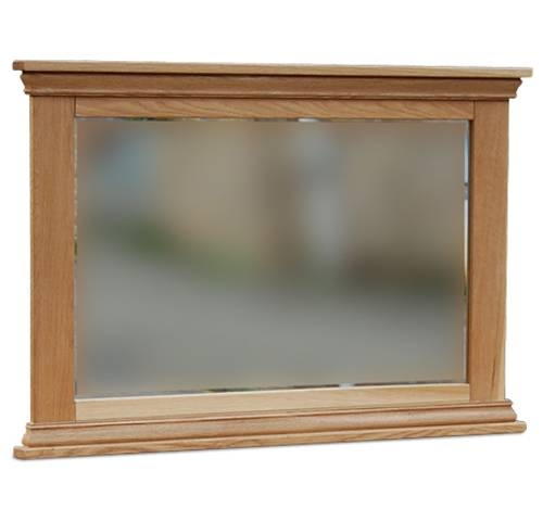 New England Oak Framed Mirror | Countryside Furnishers Throughout Large Oak Framed Mirrors (#16 of 20)