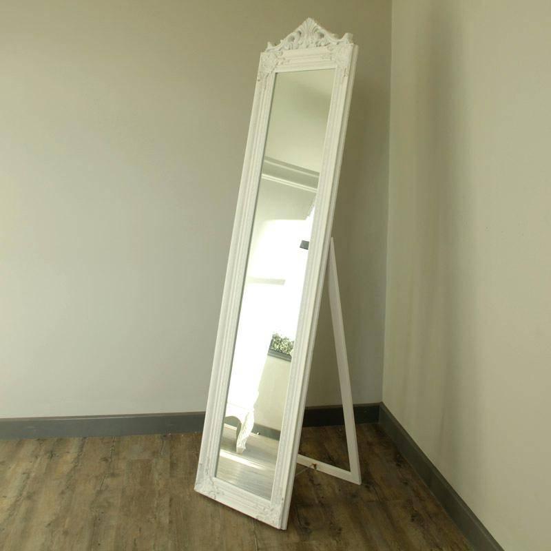 New Free Standing Floor Mirror Dressing Full Length Black Grey Regarding Tall Ornate Mirrors (#17 of 30)