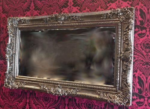 New Large Ornat Gilt Antique Beveled Edge French Style Wall Mirror Inside French Style Wall Mirrors (#25 of 30)