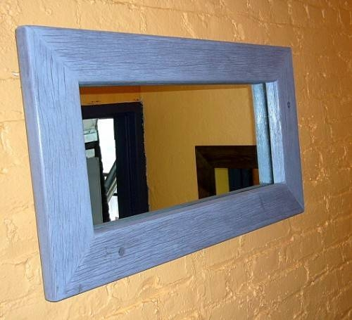 New York Discount Office Furniture | Handmade Wood Frame Mirrors Inside Mirrors With Blue Frame (View 7 of 20)