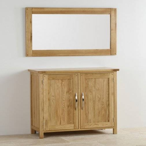 Newark Natural Solid Oak Wall Mirroroak Furniture Land Pertaining To Oak Wall Mirrors (#9 of 15)