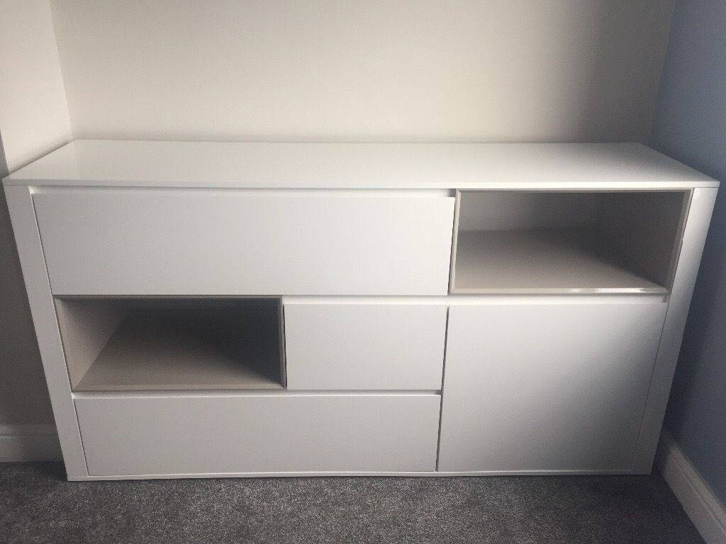 Next White High Gloss Sideboard, Really Good Condition | In North Regarding White High Gloss Sideboard (#13 of 20)