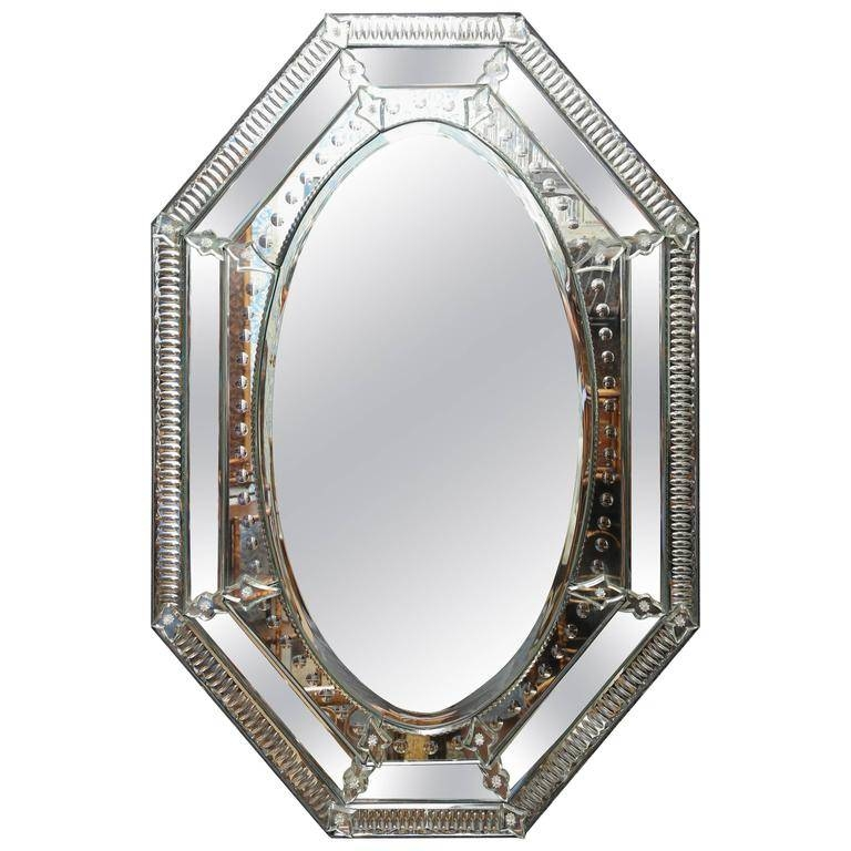 Nice Vintage Lady Venetian Style Wall Mirror For Sale At 1Stdibs Regarding Venetian Style Wall Mirrors (#11 of 20)