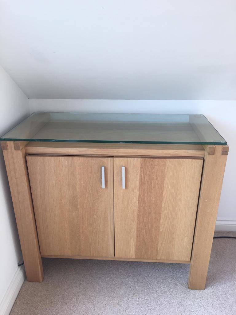 Oak And Glass Top Sideboard | In Tilehurst, Berkshire | Gumtree Within Glass Top Sideboard (#11 of 20)