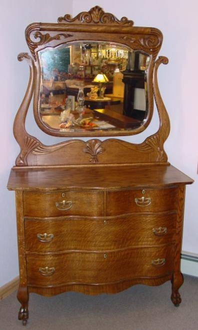 Oak Dresser With Mirror ~ Bestdressers 2017 Within Antique Oak Mirrors (#19 of 20)
