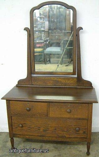 Oak Dresser With Mirror | Drop Camp Inside Antique Oak Mirrors (#18 of 20)