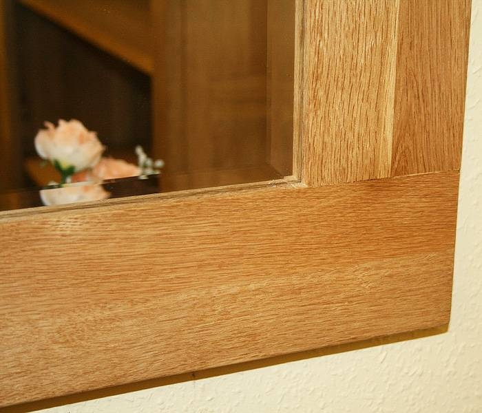 Oak Framed Wall Mirror In A Light Colour Free Delivery To Bristol Intended For Large Oak Framed Mirrors (#18 of 20)