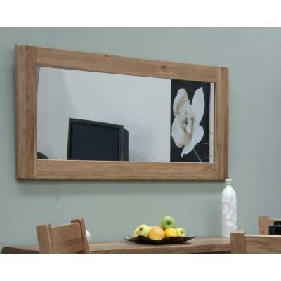 Oak Mirror | Oak Framed Mirror | Furniture Plus In Rustic Oak Mirrors (#12 of 20)