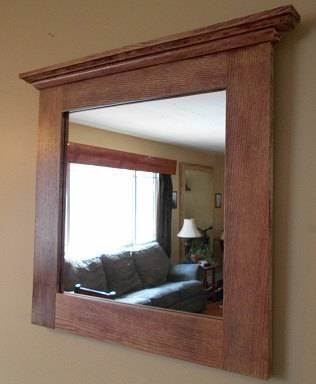 Oak Mirror Rustic Oak Framed Mirror Custom Made Oak Framed Within Rustic Oak Mirrors (#11 of 20)