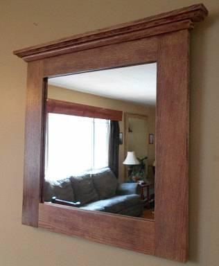 Oak Mirror Rustic Oak Framed Mirror Custom Made Oak Framed Within Rustic Oak Mirrors (View 7 of 20)