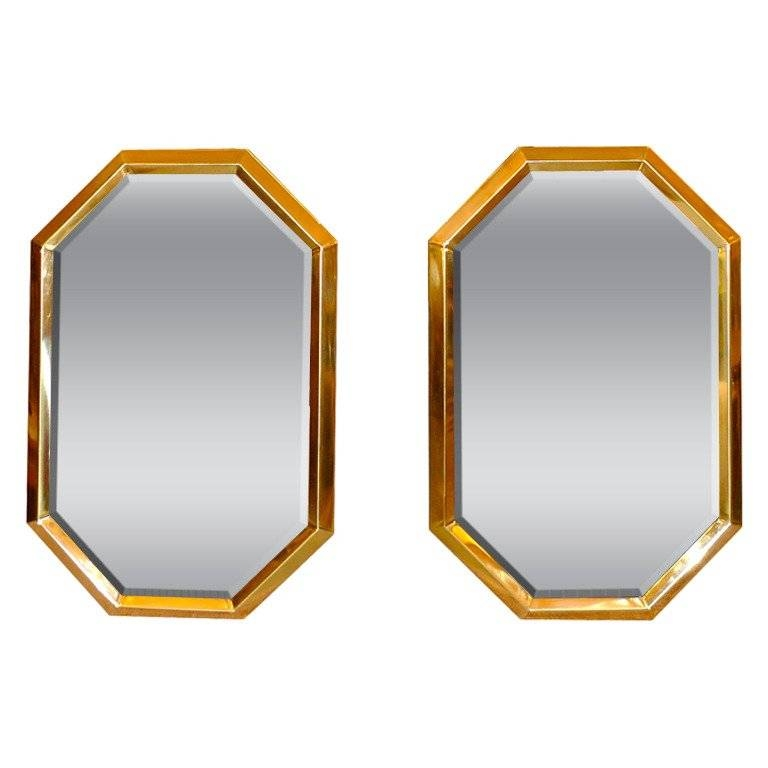 Octagonal Brass Mirrors For Sale At 1Stdibs With Brass Mirrors (#11 of 15)