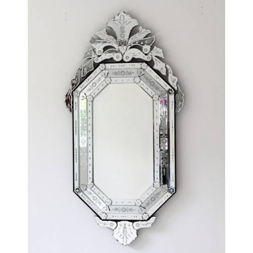 Octagonal Venetian Mirror Throughout Black Venetian Mirrors (#22 of 30)