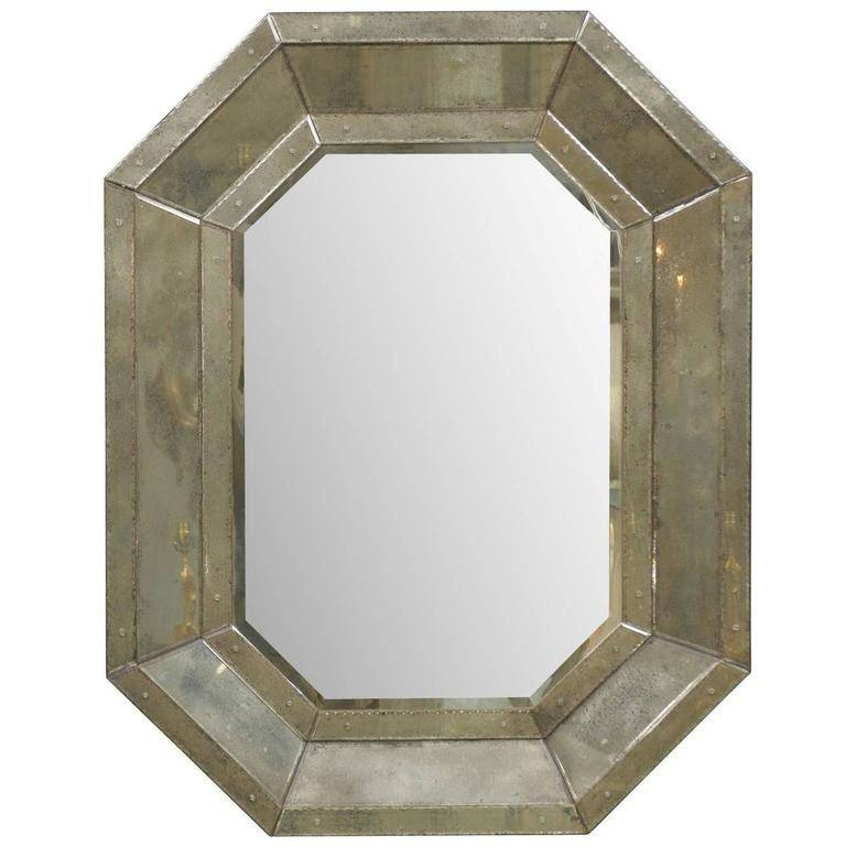 Octagonal Venetian Style Mirror With Beveled Surround For Sale At Regarding Venetian Style Mirrors (#14 of 30)