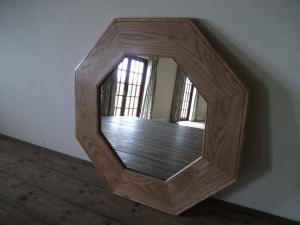 Octagonal Wooden Mirrorpinkerton Mirrors Intended For Wooden Mirrors (#17 of 30)