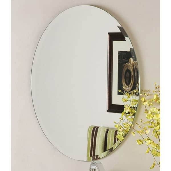 Odelia Oval Bevel Frameless Wall Mirror – Free Shipping Today In Bevelled Oval Mirrors (#15 of 20)