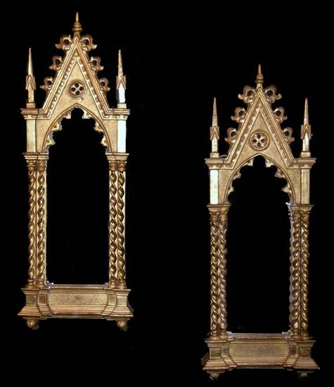 Of Antique Continental Gothic Style Gilt Wall Mirrors Regarding Gothic Style Mirrors (View 9 of 20)