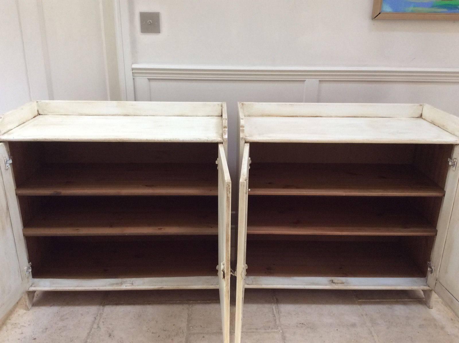 Of Pine Painted Cream Sideboard Freestanding Kitchen Unit Cupboard Inside Free Standing Kitchen Sideboard (View 13 of 20)