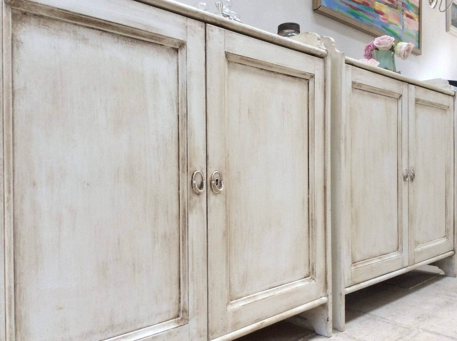 Of Pine Painted Cream Sideboard Freestanding Kitchen Unit Cupboard Pertaining To Free Standing Kitchen Sideboard (View 18 of 20)