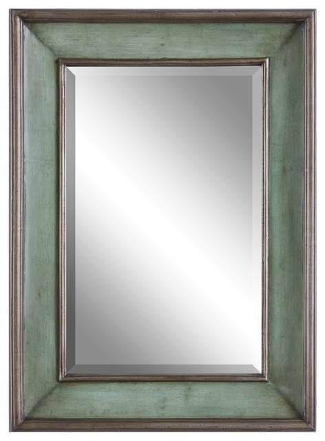 Ogden Antique Light Blue Mirror – Transitional – Wall Mirrors – In Mirrors With Blue Frame (View 2 of 20)