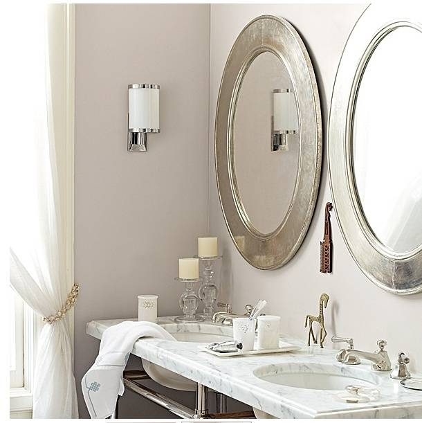 Oil Rubbed Bronze With Decorative Oval Framed Bathroom Wall Mirror Regarding White Oval Bathroom Mirrors (#15 of 20)