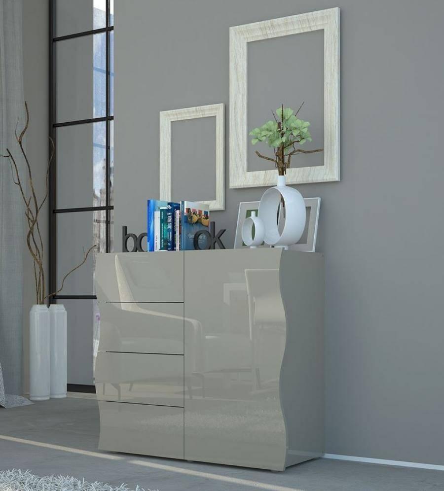 Onda Grey Gloss Sideboard | Storage Furniture | Contemporary Furniture Pertaining To Grey Gloss Sideboard (#15 of 20)