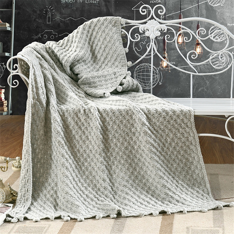 Online Get Cheap Grey Throws For Sofas Aliexpress Alibaba Group Inside Grey Throws For Sofas (View 13 of 15)