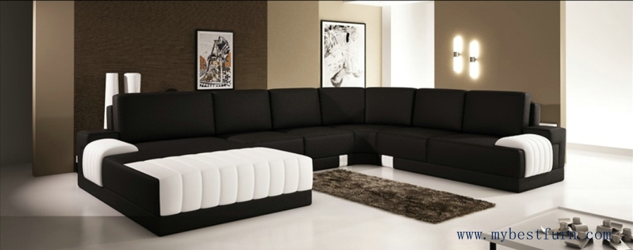 Online Get Cheap Leather Sofa Classic Aliexpress Alibaba Group Regarding White And Black Sofas (#14 of 15)