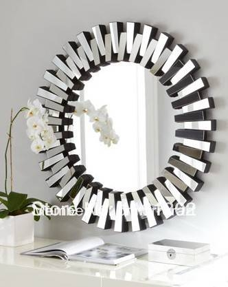 Online Get Cheap Sunburst Wall Mirrors Decorative Aliexpress Intended For Cheap Mirrors (View 15 of 30)
