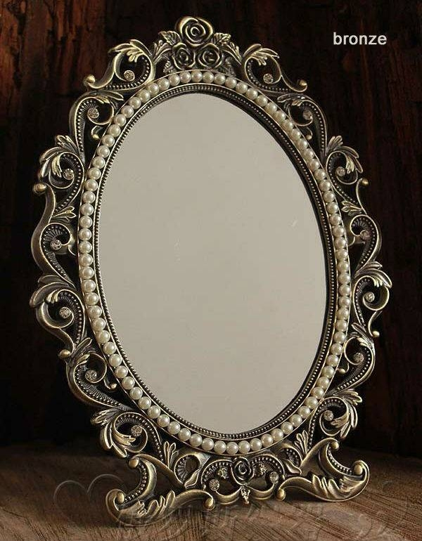 Online Get Cheap Vintage Makeup Table Mirror  Aliexpress Throughout Decorative Table Mirrors (View 17 of 30)