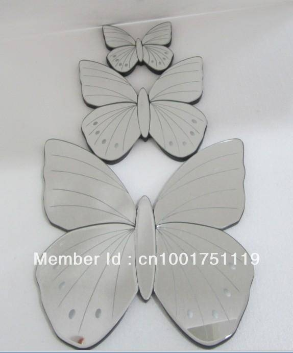 Online Shop Butterfly Wall Mirror Set Of 3 | Aliexpress Mobile Intended For Butterfly Wall Mirrors (#18 of 20)