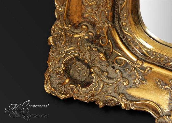 Opulance Gold Rococo Wall Mirror Intended For Gold Rococo Mirrors (View 8 of 20)