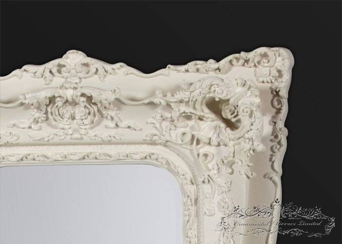 Opulance Large Rococo Mirror With White Rococo Mirrors (#11 of 20)