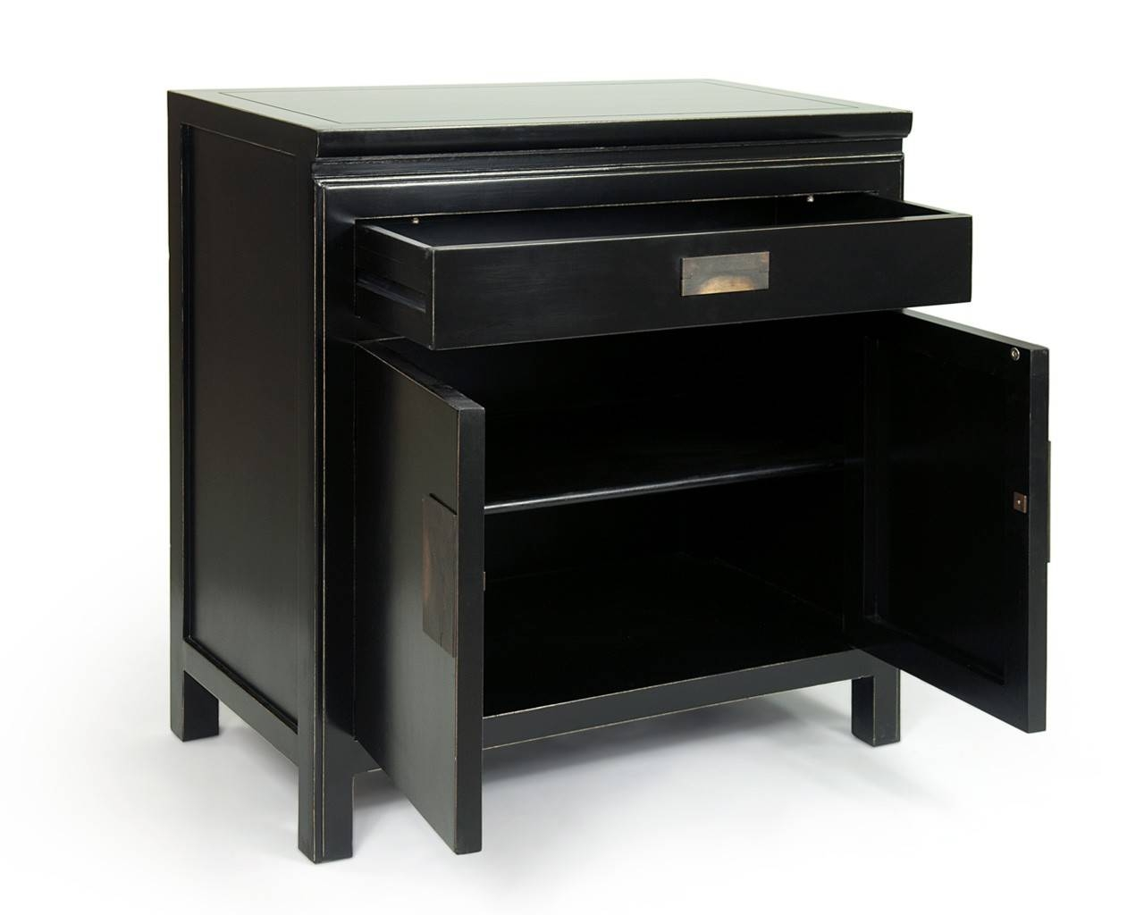 Oriental Black Lacquered Sideboards – Shanxi Inside Small Black Sideboard (#15 of 20)