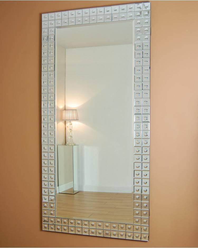 Oristano Rectangular Venetian Bubble Glass Mirror With Venetian Bubble Mirrors (#25 of 30)